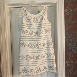 White&Gold Lilly Pulitzer Dress Size 4